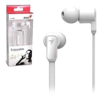 genius hs m in ear mobile headset white    product